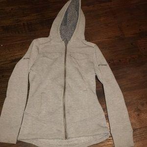 Fleece lined tapered Columbia zip up
